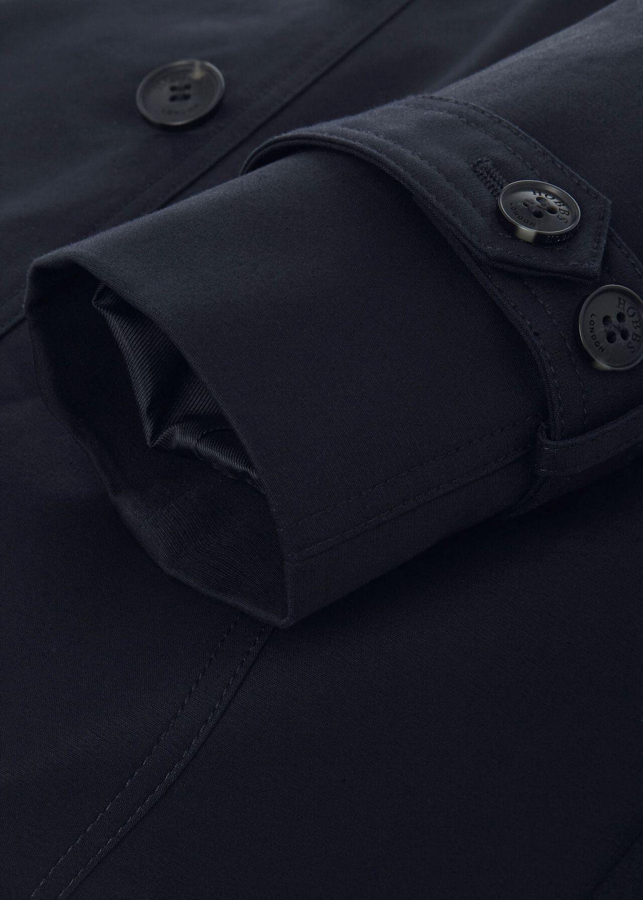 Saskia Water Resistant Trench Coat, Navy, hi-res