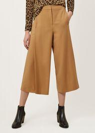 Ciara Wool Blend Trousers, Camel, hi-res