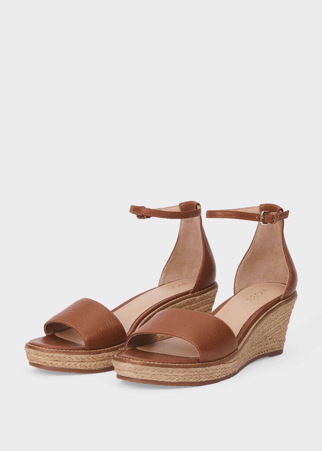 Vespa Leather Wedge Espadrilles, Tan, hi-res