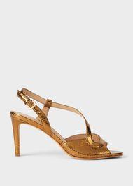 Clarissa Stiletto Sandals , Gold, hi-res