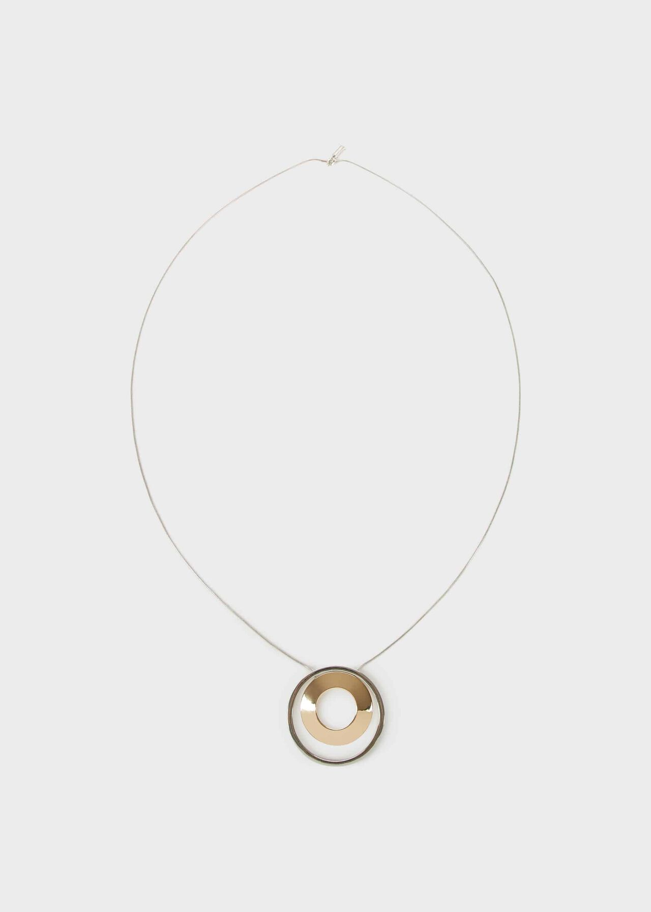 Ellem Necklace, Silver Gold, hi-res