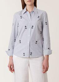 Brogan Shirt, White Navy, hi-res