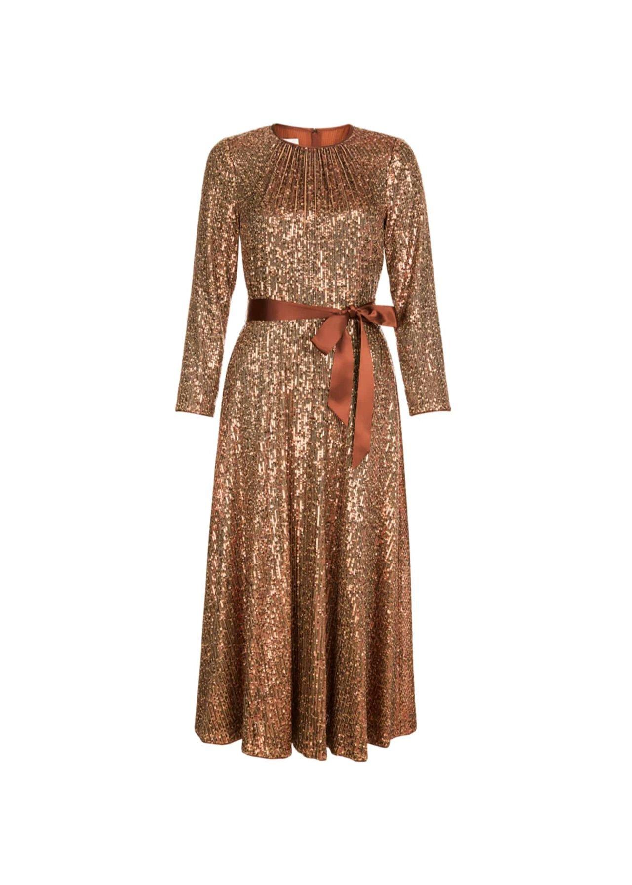 Salma Sequin Dress Copper
