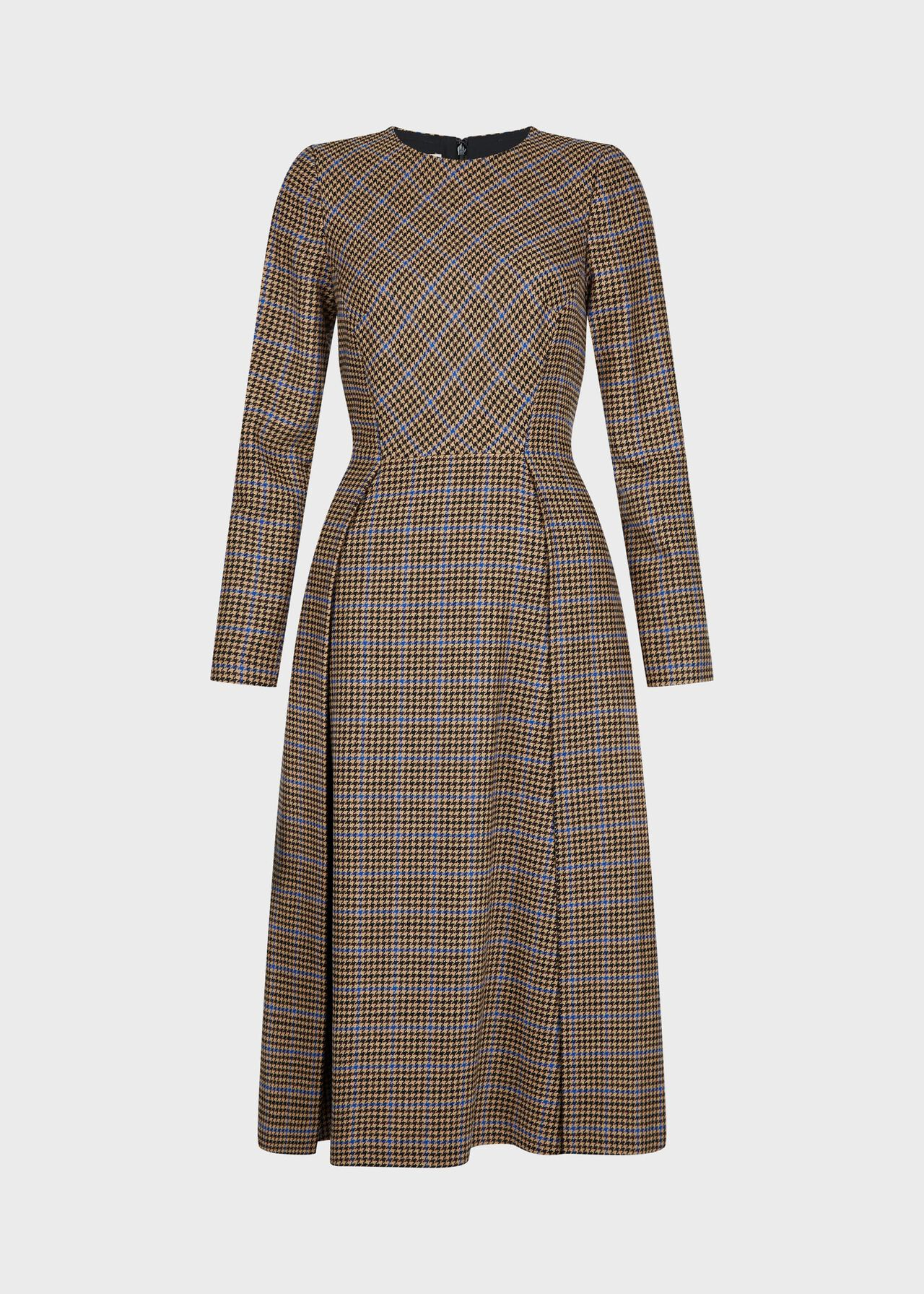 Sophia Wool Blend Dress Camel Multi