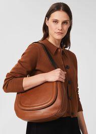 Wetherby Leather Shoulder Bag, Tan, hi-res