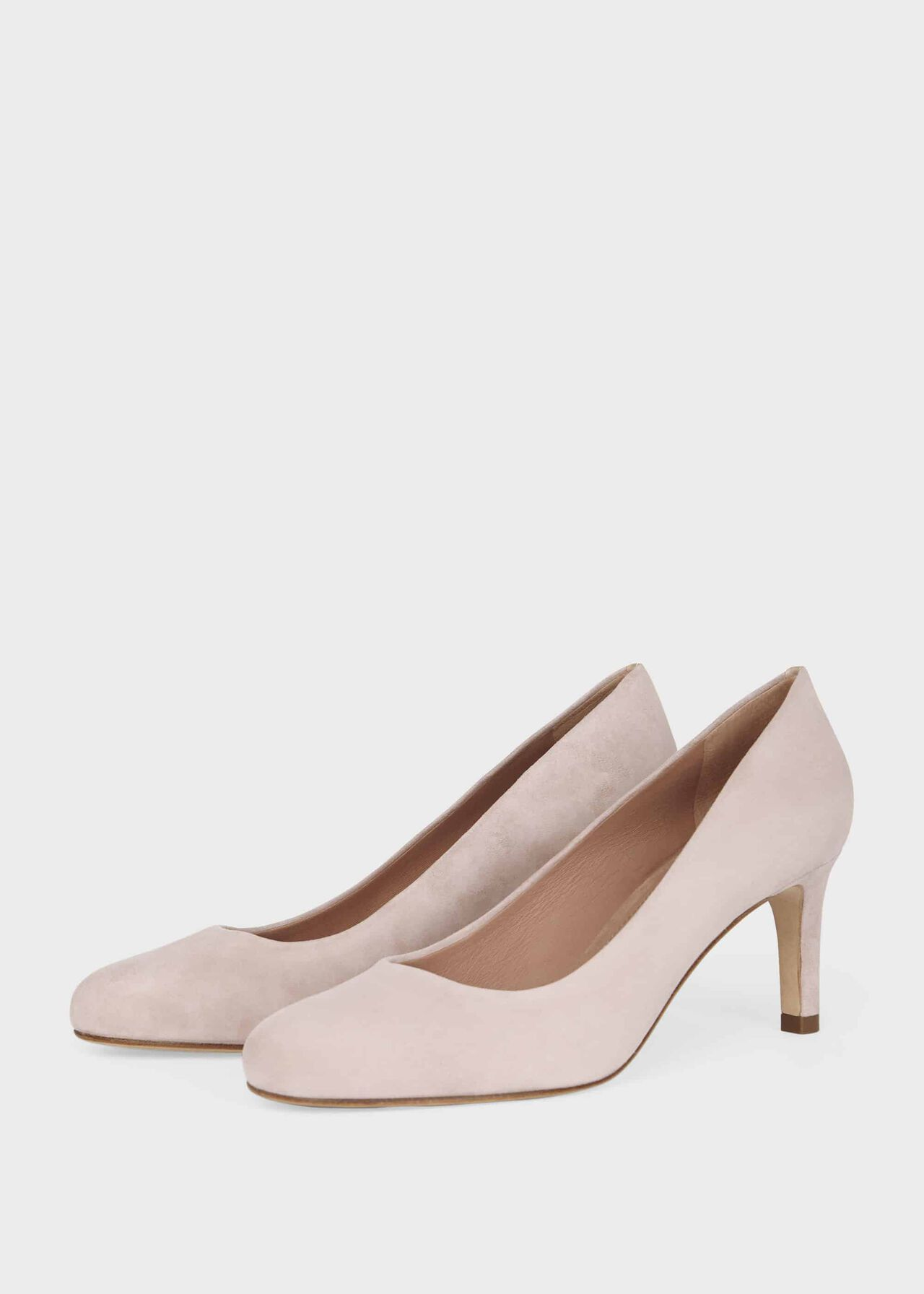Lizzie Suede Court Shoes Oyster