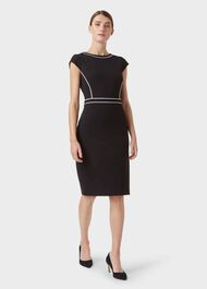 Cordelia Dress, Black Ivory, hi-res