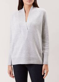 Brielle Wool Blend Sweater, Grey, hi-res