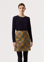 Elea Wool Skirt, Mustard Multi, hi-res