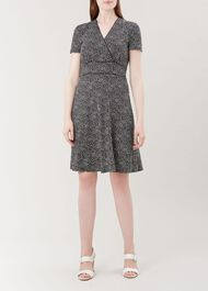 Darcie Dress, Black Ivory, hi-res
