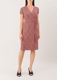 Delilah Wrap Dress, Multi, hi-res