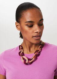 Joy Resin Necklace, Pink Multi, hi-res