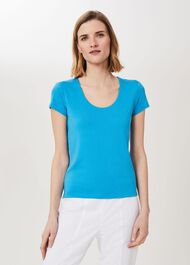 Daisy Double Fronted Top, Riviera Blue, hi-res