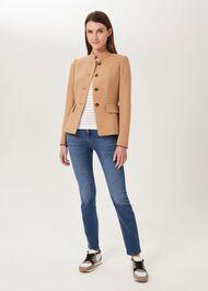 Angelica Wool Blend Military Jacket, Camel, hi-res