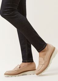 Bloomsbury Penny Loafer, Blush, hi-res