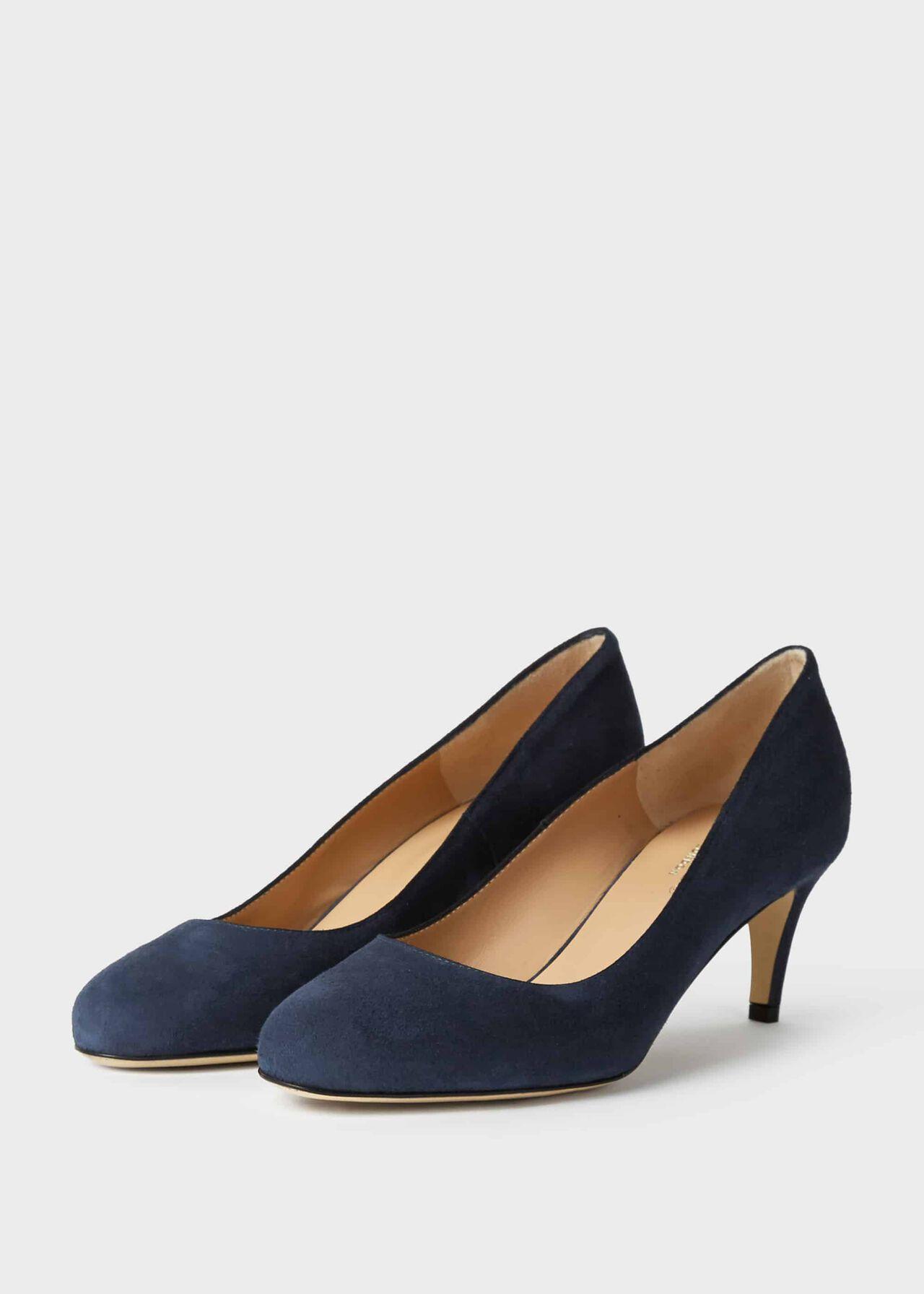 Emma Suede Stiletto Court Shoes Midnight