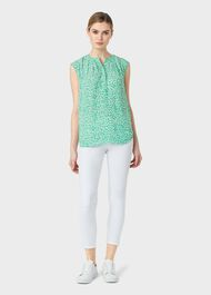 Lillie Blouse, Green Multi, hi-res