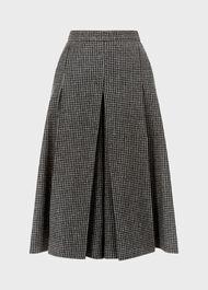 Sophia Wool Blend Culotte, Charcoal Multi, hi-res