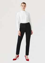 Petite Summer Gael trousers With Stretch, Black, hi-res