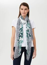 Melody Printed Scarf, Ivory Multi, hi-res