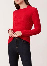 Zoe Sweater, Red, hi-res