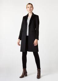 Tilda Wool Coat, Black, hi-res