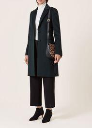 Tilda Wool Coat, Dark Green, hi-res