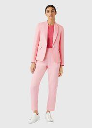 Trent Linen Jacket, Pink, hi-res