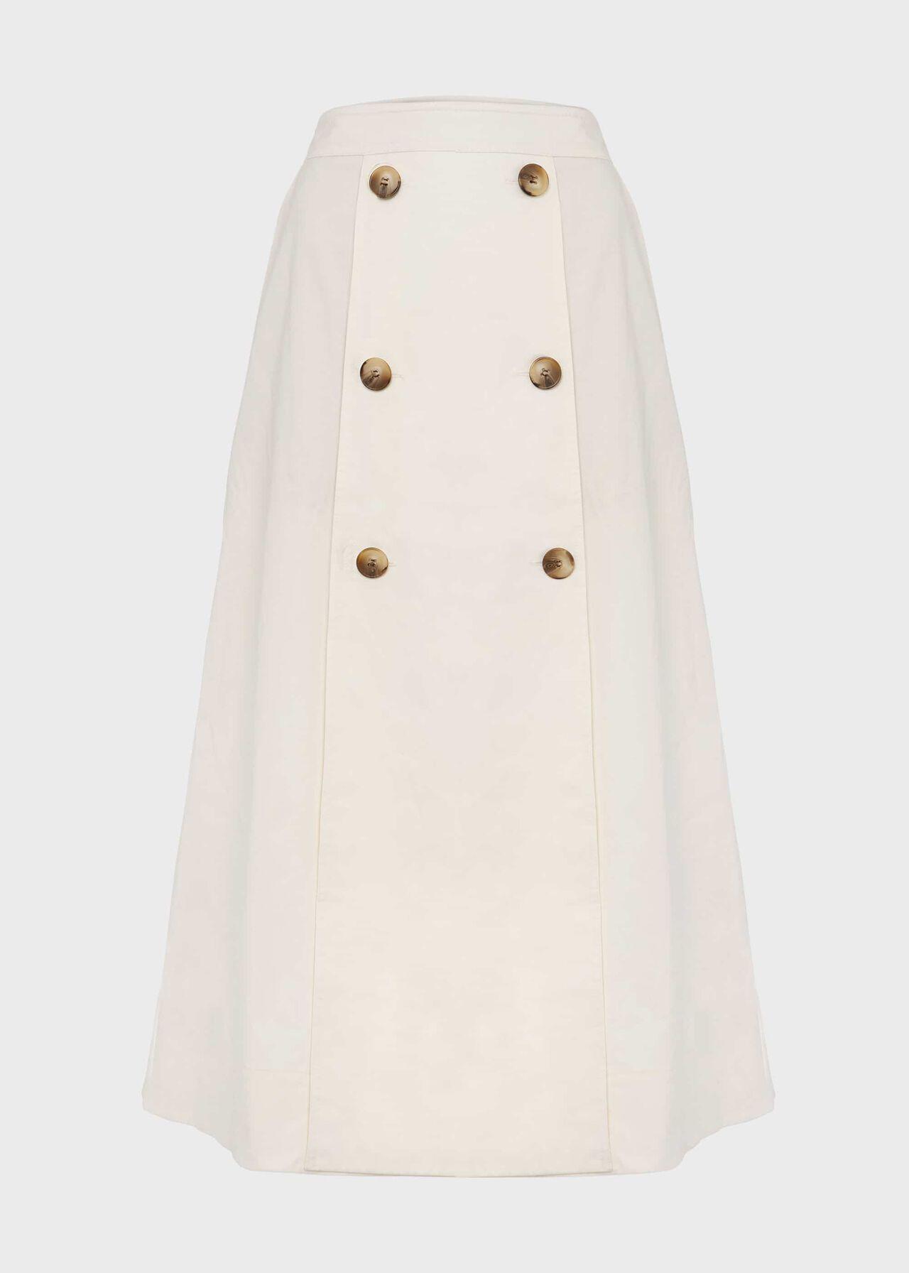 Venetia Cotton Midi Skirt Natural