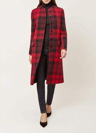 Lavinia Coat, Red Black, hi-res