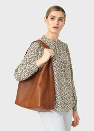 Lula Leather Hobo Bag, Tan, hi-res