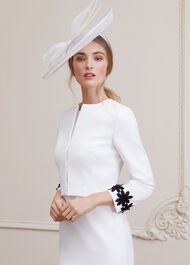 Victoria Fascinator, Ivory, hi-res