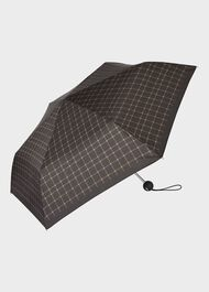 Check Umbrella, Black, hi-res