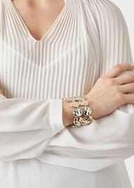 Hayley Bracelet, Silver Gold, hi-res