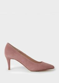Elouise Suede Stiletto Court Shoes, Dusky Pink, hi-res