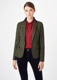 Blake Wool Jacket, Green Navy, hi-res
