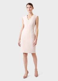 Frida V Neck  Shift Dress, Pale Pink, hi-res