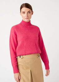 Carla Sweater, Hot Pink, hi-res