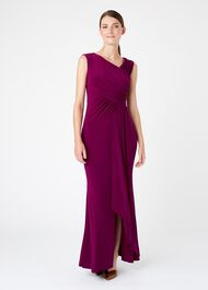 Niamh Maxi Dress, Plum, hi-res