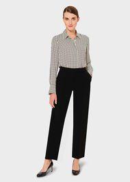Alva Straight trousers, Black, hi-res