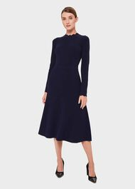 Savannah Knit Dress, Blue, hi-res