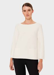 Kendall Sweater, Ivory, hi-res