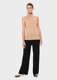 Alycia Merino Wool Top, Camel Black, hi-res