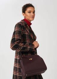 Highland Leather Crossbody Bag, Wine, hi-res