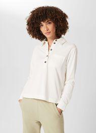 Lillie Polo Shirt, Ivory, hi-res
