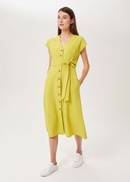Nima Midi Dress, Chartreuse, hi-res