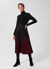 Tasha Pleated Skirt, Black Merlot, hi-res