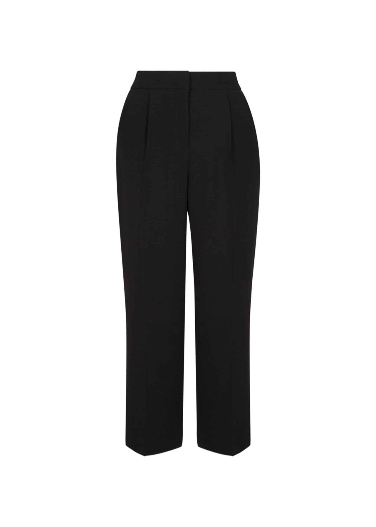 Kiera Crop Trousers Black