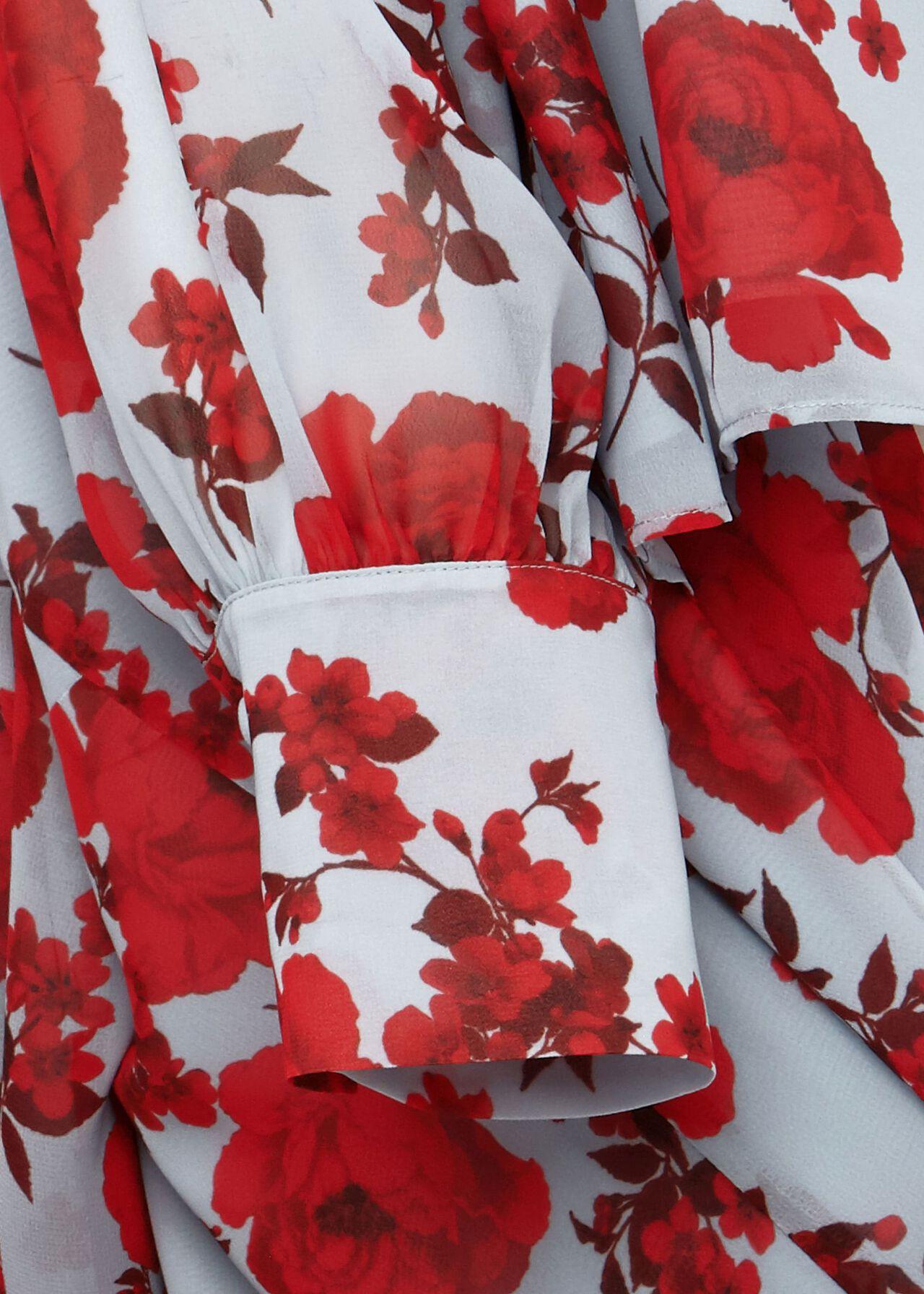 Elizabeth Floral Blouse, Blue Red, hi-res