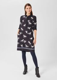 Marciella Tunic Dress, Navy Multi, hi-res